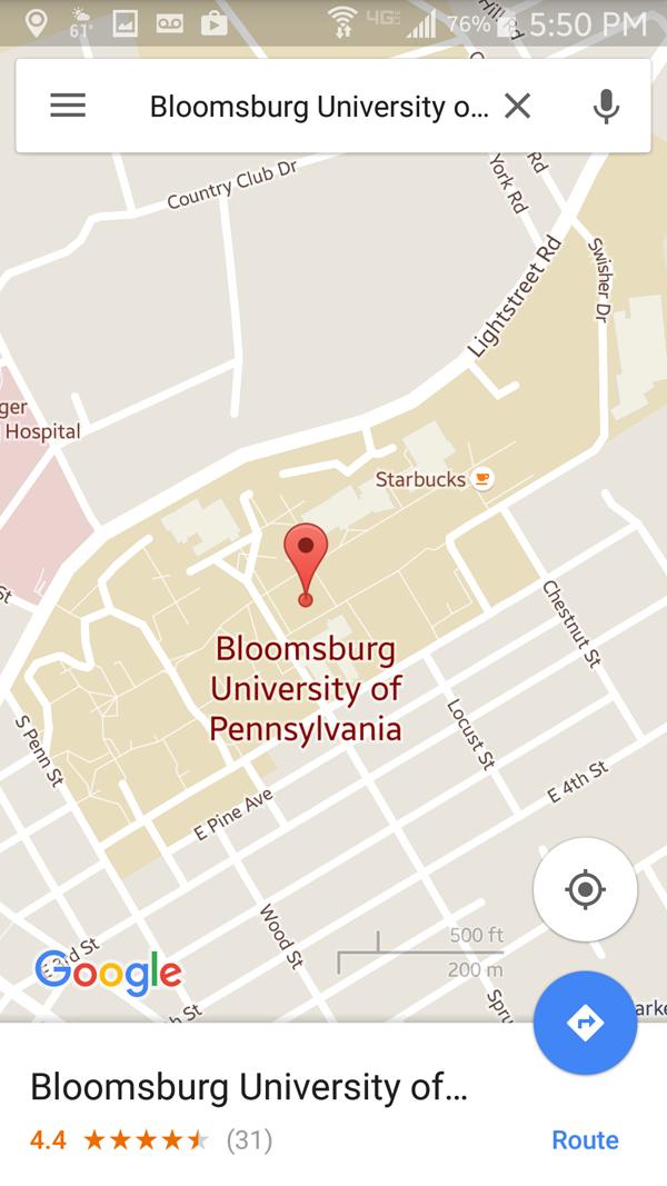 Figure 1. Starbucks-as-landmark in the Google Maps mobile app.