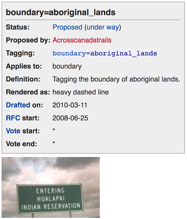 Figure 4. boundary=aboriginal_lands proposal by Acrosscanadatrails.