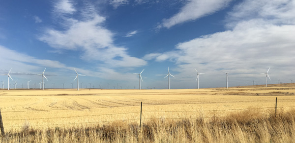 Figure 10. Wind power production in Klickitat County. Photo by author.