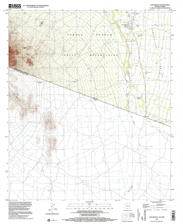 A USGS topographic map used as a source by Steven.