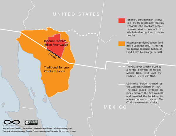 Tohono O'odham Nation. Map by Forest Purnell, CC-BY-SA 3.0.