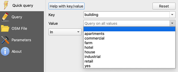 Figure 9. The Value dropdown allows users to specify building type.
