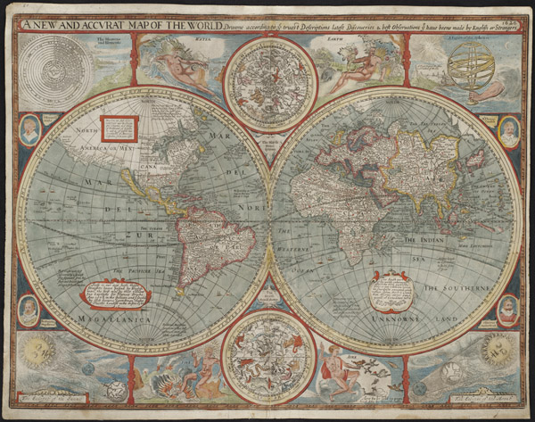 John Speed, A New and Accurat Map of the World (1626).