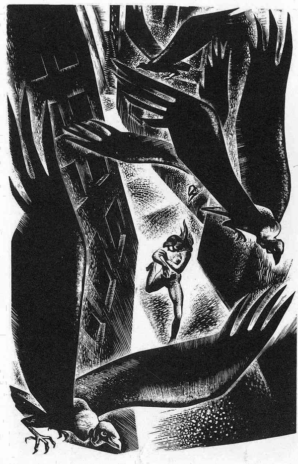 Figure 3. Page from Song Without Words: A Book of Engravings on Wood by Lynd Ward. 1936.