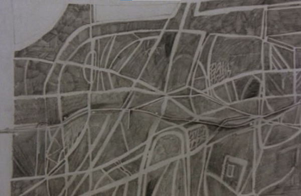 Figure 10. Peter Greenaway. 1978. Map 21 detail. The map of a conscientious cartographer.