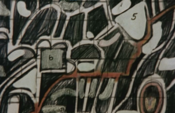 Figure 11. Peter Greenaway. 1978. Map 20 detail. A map to be played like a blank in a card game.
