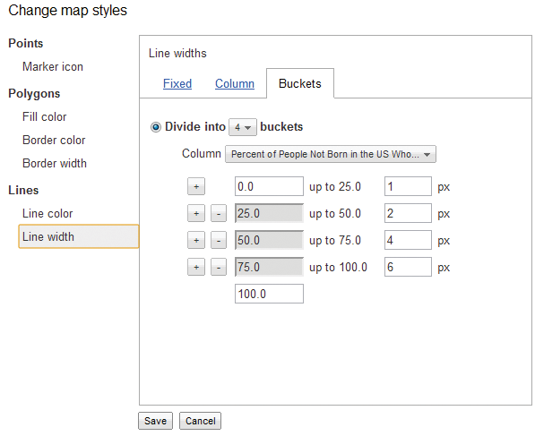 View of Cloud Mapping: Google Fusion Tables | Cartographic