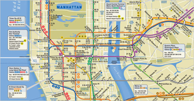 New York Subway Map As Layer.View Of Mapping Potential Metro Rail Ridership In Los Angeles County