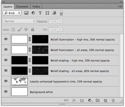 Figure 10. Gray Earth composite layers in Photoshop