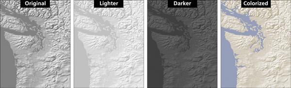 Figure 11. Possible Adobe Photoshop adjustments to Gray Earth.