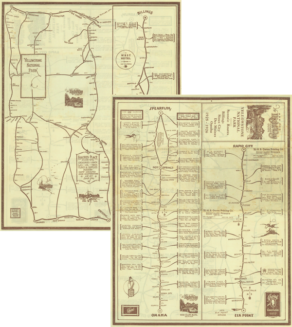 View of The West That is Wyoming: The Hebard Historic Map Collection ...