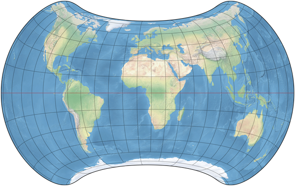 Strebe projection