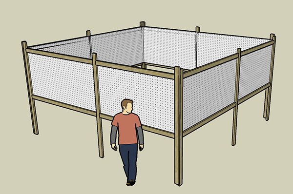 Figure 2: Diagram of the indoor search space.