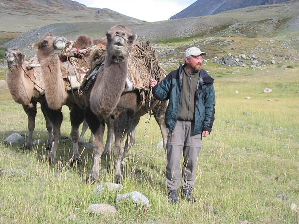 Figure 2. Jim out in the field for the Archaeology and Landscape in the Mongolian Altai: An Atlas project.