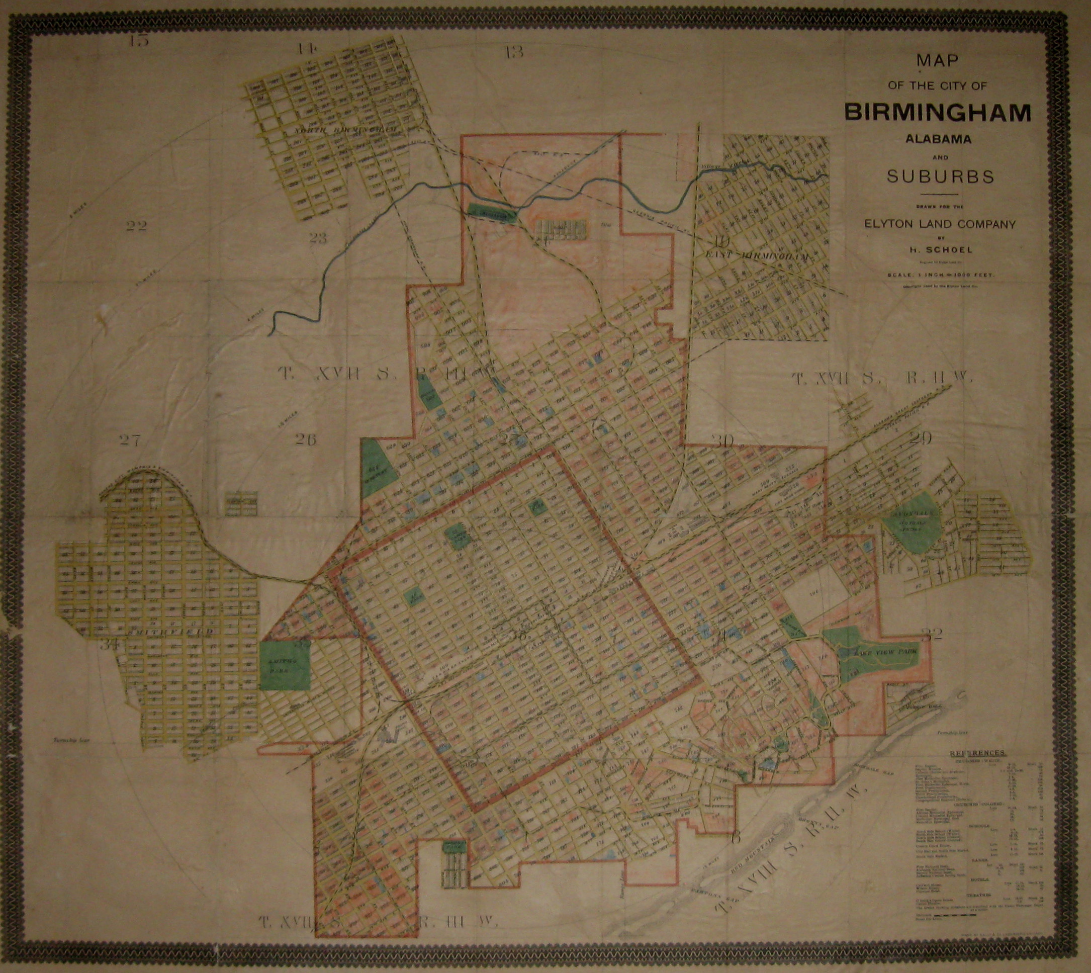 View of Birmingham's Cartographic Treasure | Cartographic ... Raw Materials Map Of Alabama on people map, greenland map, manufacturing map, raw resources world map, transportation map,