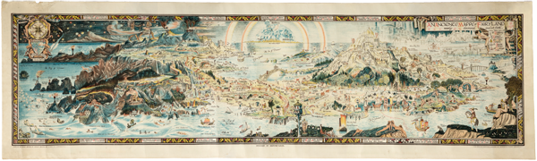 Figure 1. An anciente mappe of Fairyland: newly discovered and set forth, cartographer Bernard Sleigh, 1925.
