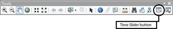 Figure 6. The Tools toolbar with the Time Slider button.