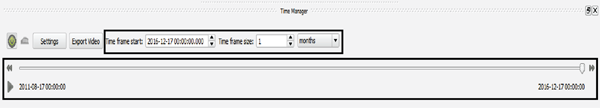 Figure 13. The QGIS TimeManager toolbar in the data window.