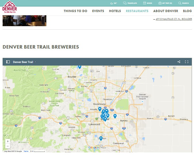 View of Beer-trail maps and the growth of experiential tourism ... Denver Brewery Map on