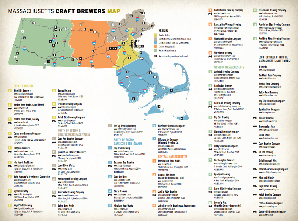 View of Beer-trail maps and the growth of experiential ... Machusetts Winery Map on