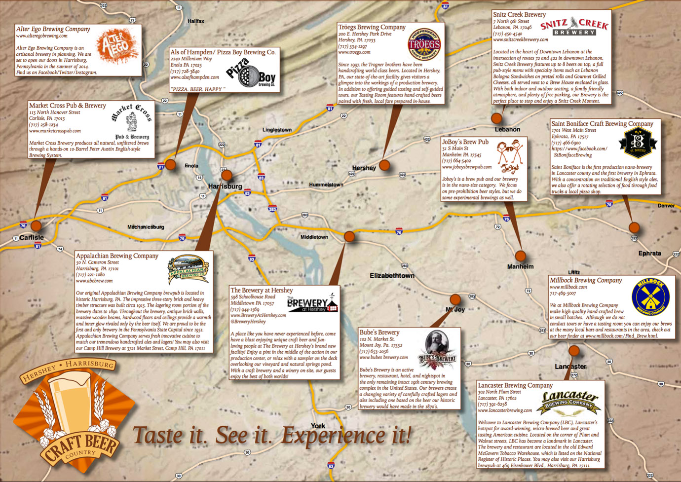 Map Of Texas Breweries.View Of Beer Trail Maps And The Growth Of Experiential Tourism