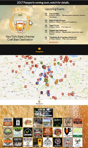 View of Beer-trail maps and the growth of experiential tourism ... Finger Lakes Beer Trail Map on