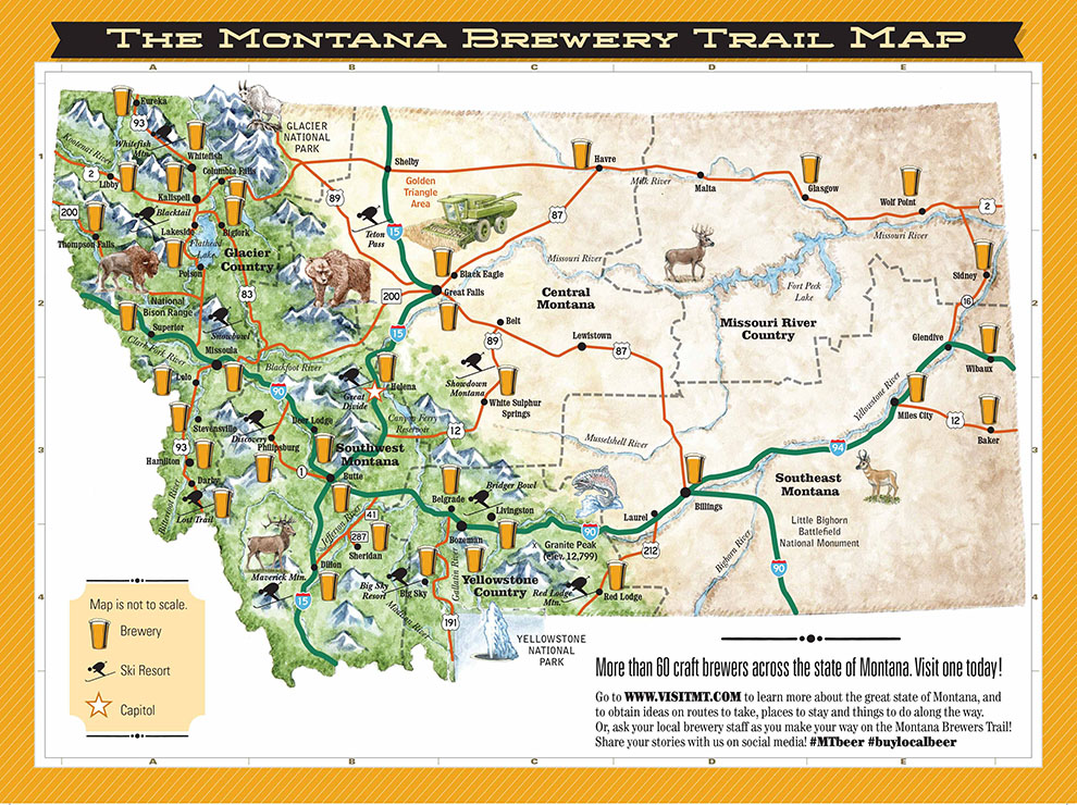 map of vermont breweries View Of Beer Trail Maps And The Growth Of Experiential Tourism map of vermont breweries